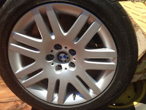 "OEM BMW 18"" Tires and Aluminum Rims - Like New"
