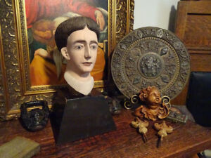 Friar 19thC SPANISH COLONIAL Franciscan Monk CARVED religious