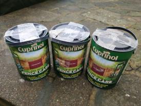 3x Cuprinol Less Mess Fence Care Autumn Red Wood paint