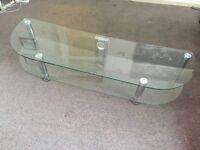 Glass tv unit £25