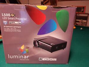 Luminar L500 LED projector (new in box)W/screen