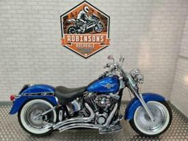 2002 Harley Davidson Fatboy in blue in stunning condition.