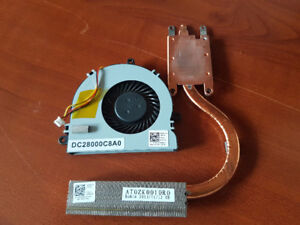 Dell Latitude CPU Fan W/ Heatsink DC28000C8A0 / AT0ZK0010R0