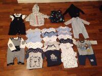 Baby boys clothing bundle 0-3 months