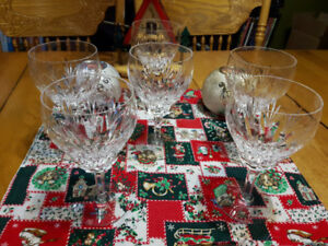 Lot of Crystal Goblets and Glasses Buy One Set or Buy Them All
