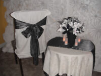 Silk Table Runners and Chair Ties