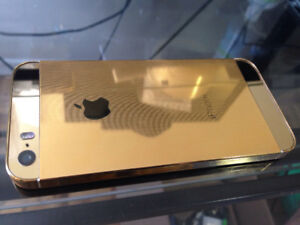 iPhone 5S 16GB Gold Plated - Unlocked ( Freedom mobile works to)