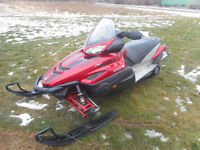 Fast sled fully loaded including APEX seat mod
