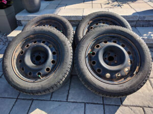 Winter Tires and Rims (x4): Michelin X-ICE II 225/55R17