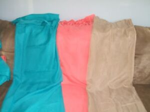 4 SETS OF SHEER PANEL CURTAINS 3 DIFFERENT COLORS