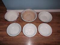 VINTAGE metal patina bowls ($8-$15)