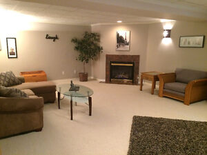 BASEMENT SUITE - 2 Bedrm fully finished Available Oct. 1st