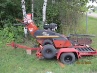 Ditch Witch trencher with Ditch Witch trailer