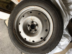 4 winter tires with rims -  205/55R16 - Goodyear Ultra Grip Ice