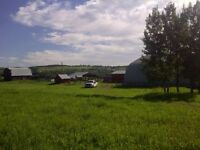 Farm site for rent 15 min from Calgary