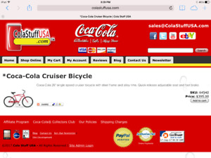 Coca Cola Cruiser Bicycle-limited edition
