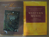 12 CDs + 2 Textbooks :Music in Western Culture  ALL FOR $10