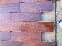 Parquet hardwood reclaimed flooring