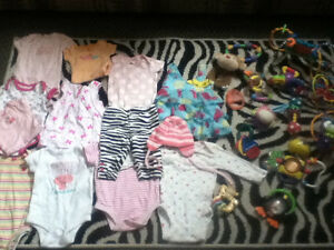 Baby girl clothes and toy lot Windsor Region Ontario image 1