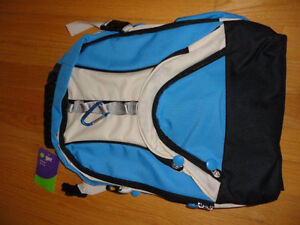 Unisex blue off white backpack school bag knapsack New with tags