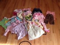 6-12 months lot of girl clothes