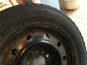 4 WINTER TIRES WITH RIMS Kitchener / Waterloo Kitchener Area image 1