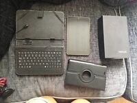 Nexus tablet with keyboard and case