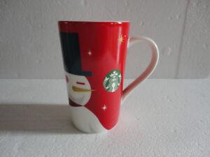 Starbucks Limited Edition 2012 Holiday Snowman Tall coffee mug