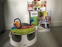 Mamas and Papas : Baby Snug bumbo seat and toy tray - as new condition
