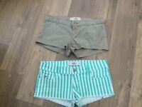 Hollister Shorts x 2 size 26