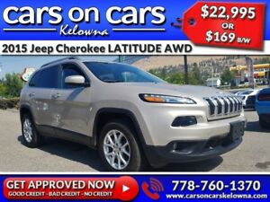2015 Jeep Cherokee LATITUDE V6 AWD w/BackUp Cam, BlueTooth, USB
