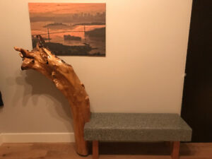 West coast style entry bench