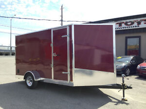 6' x 12' V-Nose Cargo Trailer • 3 Year Warranty • Made in Canada Kitchener / Waterloo Kitchener Area image 1