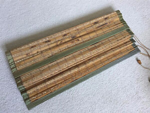Bamboo corded blinds