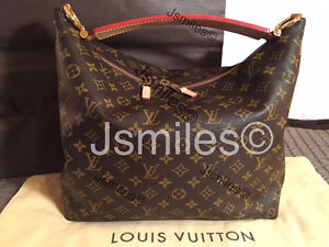 100% Authentic LOUIS VUITTON Sully MM w/gift Receipt
