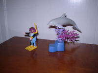 Playmobil Dolphin with Diver.