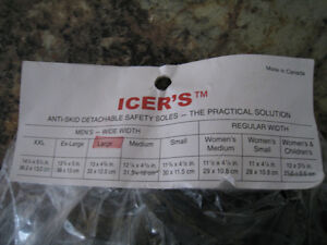 Icer's Anti - Skid Detachable Safety Soles. NEW NEVER USED.