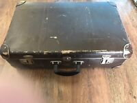 Vintage suitcase display props luggage hard shell trunk 'great condition for being so old'