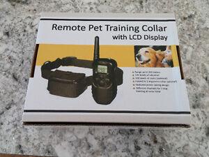 Collier d'entrainement pour chien avec télécommande lcd