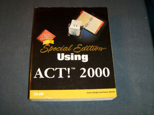 SPECIAL EDITION-USING ACT! 2000-QUE CORP-MCMILLAN