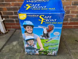 Weeride crossbar mounted child's bike seat