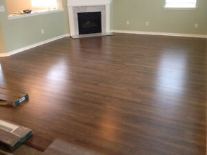 laminate floor installation  99 cents per sq foot