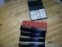 Mah Jong with Travel case and Tile boards