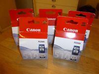 5 x Black 510 Canon Pixma Printer Ink Cartridges