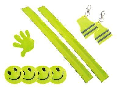 Reflektierende Armband,bands Und Embleme Reflektierende Aufkleber Neon Gelb