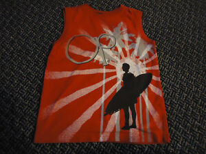 Boys Size 6/7 Red Surfer Tank Top