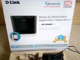 D-LINK WIRELESS AC 1200 DUAL-BAND GIGABIT ADSL2+ MODEM ROUTER