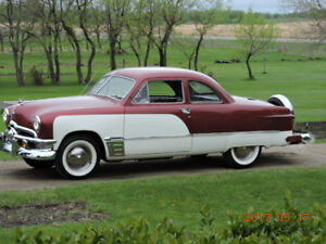1950 Ford Coupe , with uninstalled air ride. 3x2 Flathead .