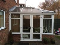 Conservatory with made to measure blinds.