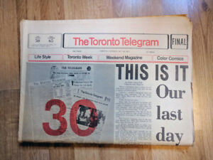 Toronto Telegram Newspaper Paperboy Collection
